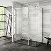 Nova 1400 x 800 Wet Room (Inc. Screen, Side Panel + Return Panel with Slate Effect Tray) profile small image view 1