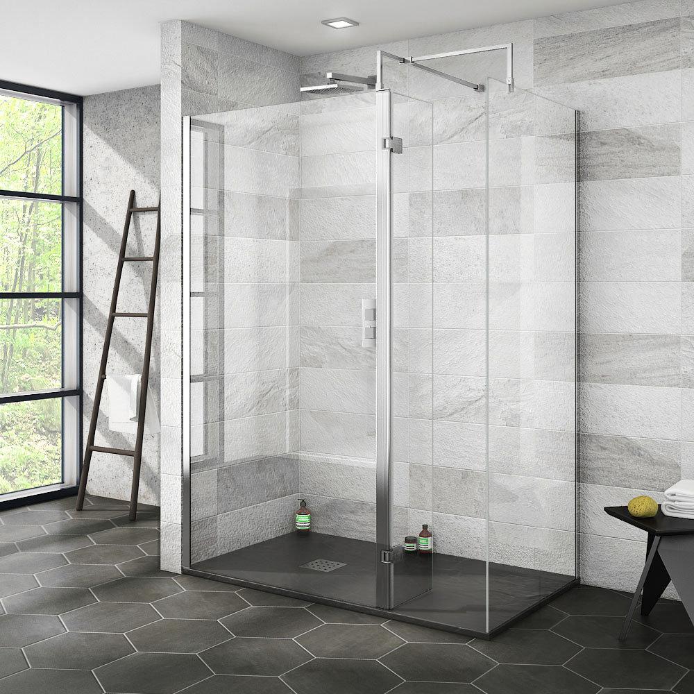 Nova 1400 x 800 Wet Room (Inc. Screen, Side Panel + Return Panel with Slate Effect Tray)