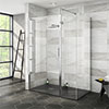 Nova 1400 x 800 Wet Room (Inc. Screen, Side Panel + Return Panel with Slate Effect Tray) profile small image view 1