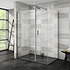 Nova 1400 x 900 Wet Room (Inc. Screen, Side Panel + Return Panel with Slate Effect Tray) profile small image view 1