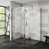 Nova 1400 x 900 Wet Room (Inc. Screen, Side Panel + Return Panel with Slate Effect Tray) profile small image view 1