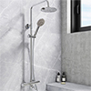 Nova Round Thermostatic Shower Kit with Spout profile small image view 1