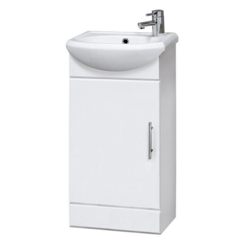 Sienna 420mm Vanity Unit (High Gloss White - Depth 200mm) Large Image