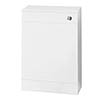 Sienna High Gloss White WC Unit with Concealed Cistern W500 x D200mm - NVS142 profile small image view 1