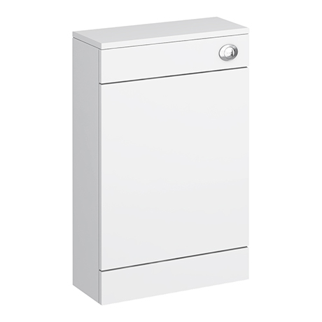 Sienna High Gloss White WC Unit with Concealed Cistern W500 x D200mm - NVS142