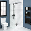 Nova 1000 x 1000 Square Wet Room (1000mm Screen + Tray) profile small image view 1