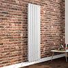 Milan 1800 x 452 Vertical White Double Panel Radiator profile small image view 1