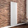 Milan 1800 x 604 Vertical White Double Panel Radiator profile small image view 1