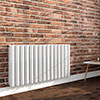 Nova 600 x 1136 Horizontal White Double Panel Radiator profile small image view 1