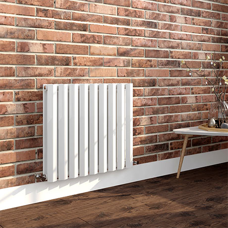 Milan 600 x 680 Horizontal White Double Panel Radiator
