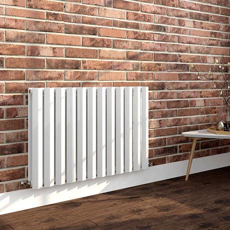 Milan 600 x 908 Horizontal White Double Panel Radiator