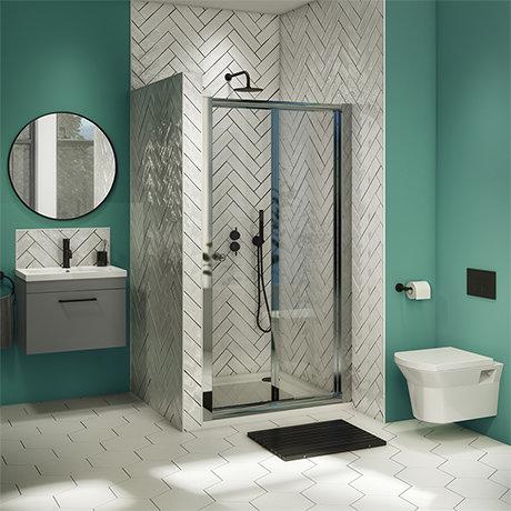 Newark Ensuite Bathroom Suite - Bi-Fold Folding Shower Door
