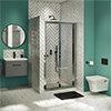 Newark Ensuite Bathroom Suite - Bi-Fold Folding Shower Door profile small image view 1