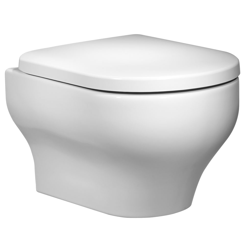 Roper Rhodes Note Wall Hung WC Pan & Soft Close Seat profile large image view 1