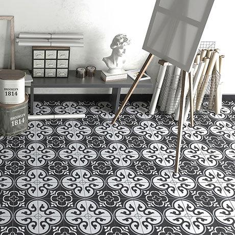 Newark Black Wall and Floor Tiles - 200 x 200mm