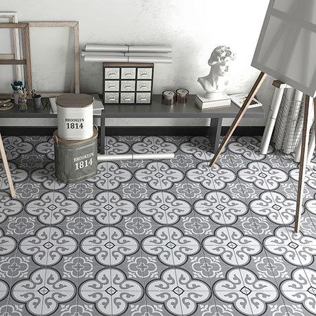 Newark Grey Wall and Floor Tiles - 200 x 200mm