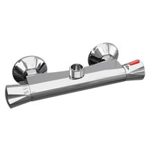 Naples Round Top Outlet Thermostatic Bar Shower Valve Medium Image