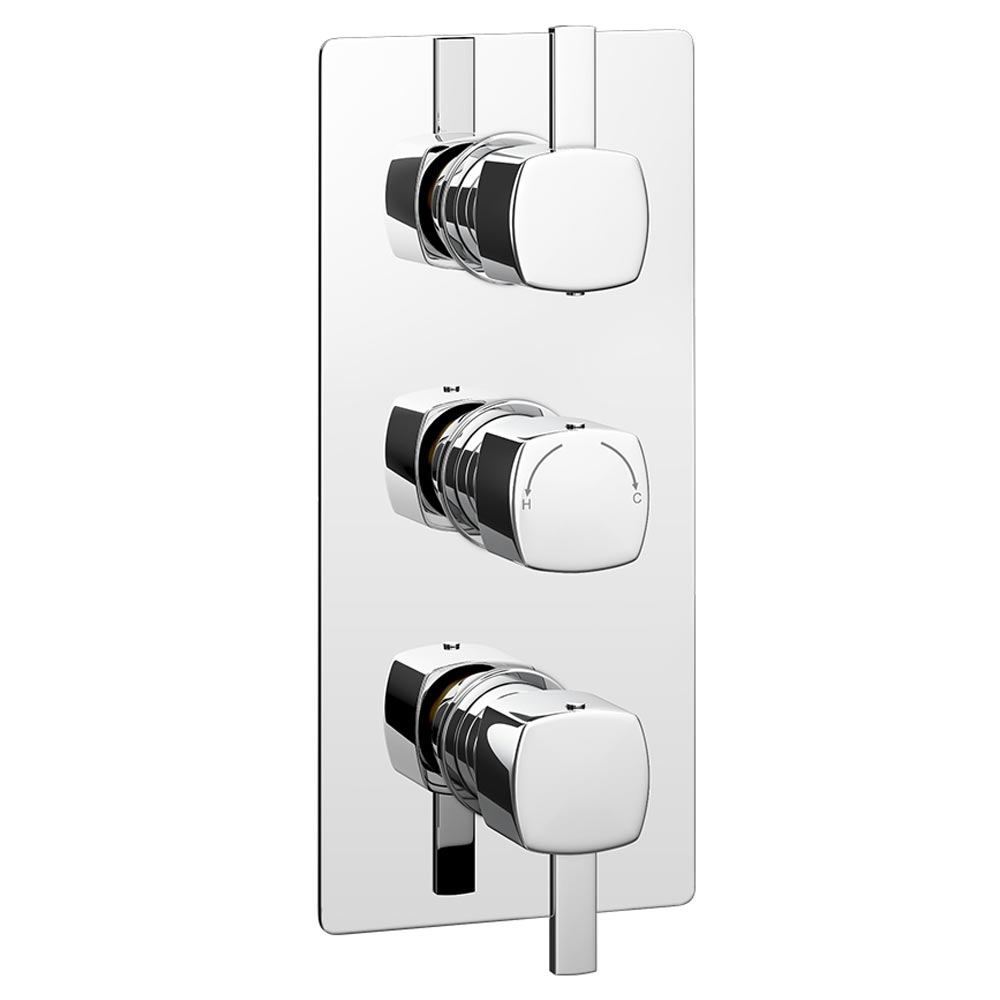 Neo Concealed Thermostatic Triple Shower Valve Large Image