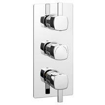 Neo Concealed Thermostatic Triple Shower Valve Medium Image