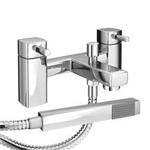 Neo Minimalist Bath Shower Mixer with Shower Kit - Chrome Medium Image