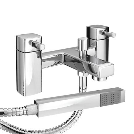Neo Minimalist Bath Shower Mixer with Shower Kit - Chrome