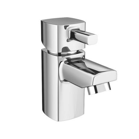 Neo Minimalist Cloakroom Mono Basin Mixer with Waste - Chrome
