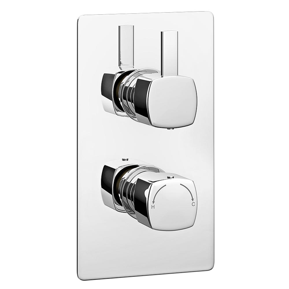 Neo Concealed Thermostatic Twin Shower Valve Large Image