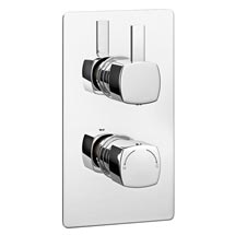 Neo Concealed Thermostatic Twin Shower Valve Medium Image