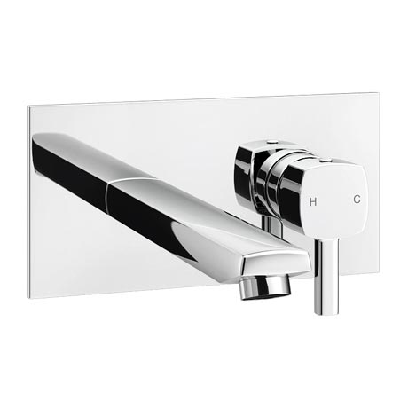 Neo Modern Wall Mounted Bath/Basin Filler - Chrome