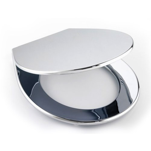 Wenko Prato Wc Toilet Seat Chrome 111215100 At