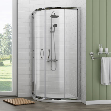 Newark 700 x 700mm Small Quadrant Shower Enclosure + Pearlstone Tray