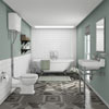 Newbury Traditional Back-to-Wall Roll Top Bath Suite profile small image view 1
