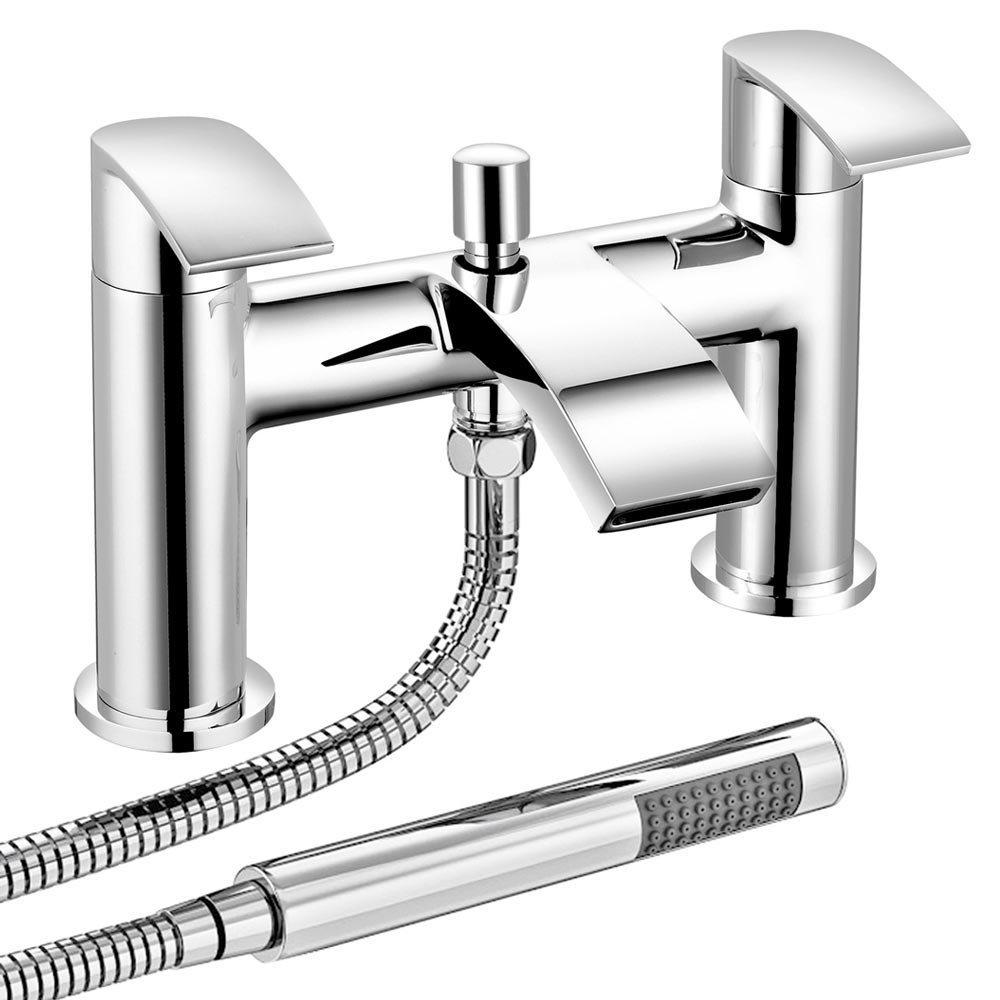 Nexus Bath Shower Mixer Tap + Shower Kit Large Image