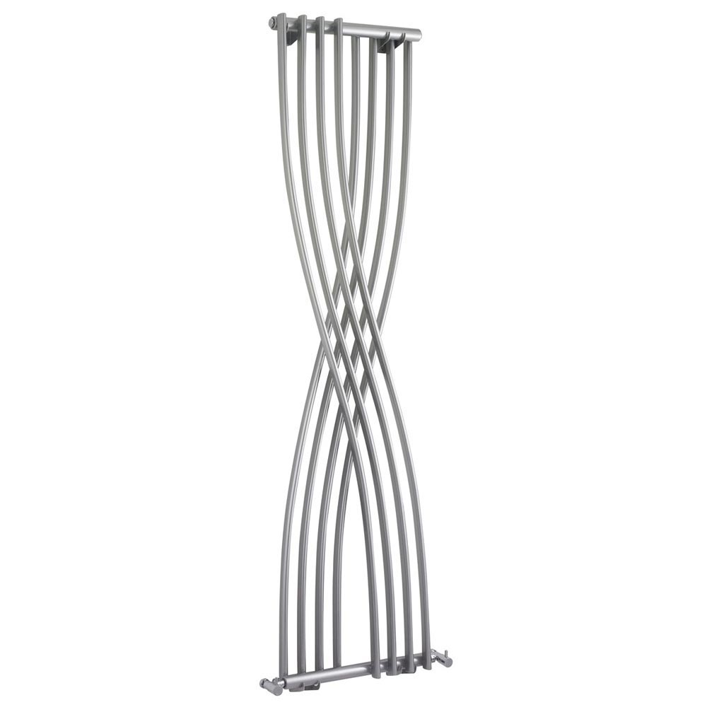 Nexus Gloss Silver Vertical Designer Radiator (H1775 x W450mm) Large Image