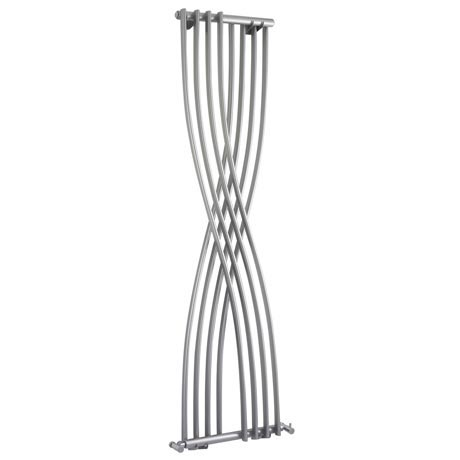 Nexus Gloss Silver Vertical Designer Radiator (H1775 x W450mm)
