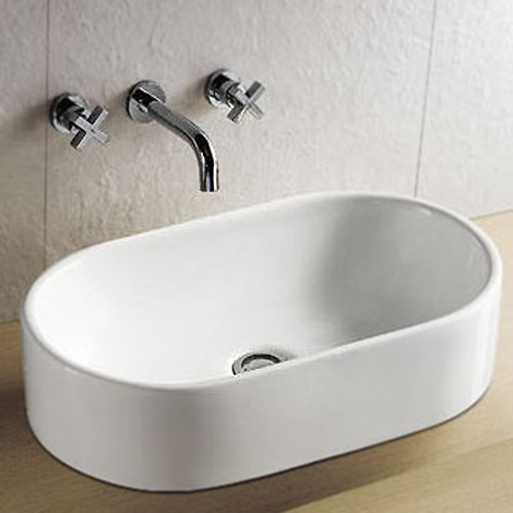 Nouvelle Counter Top Basin 0TH - 510 x 320mm profile large image view 1
