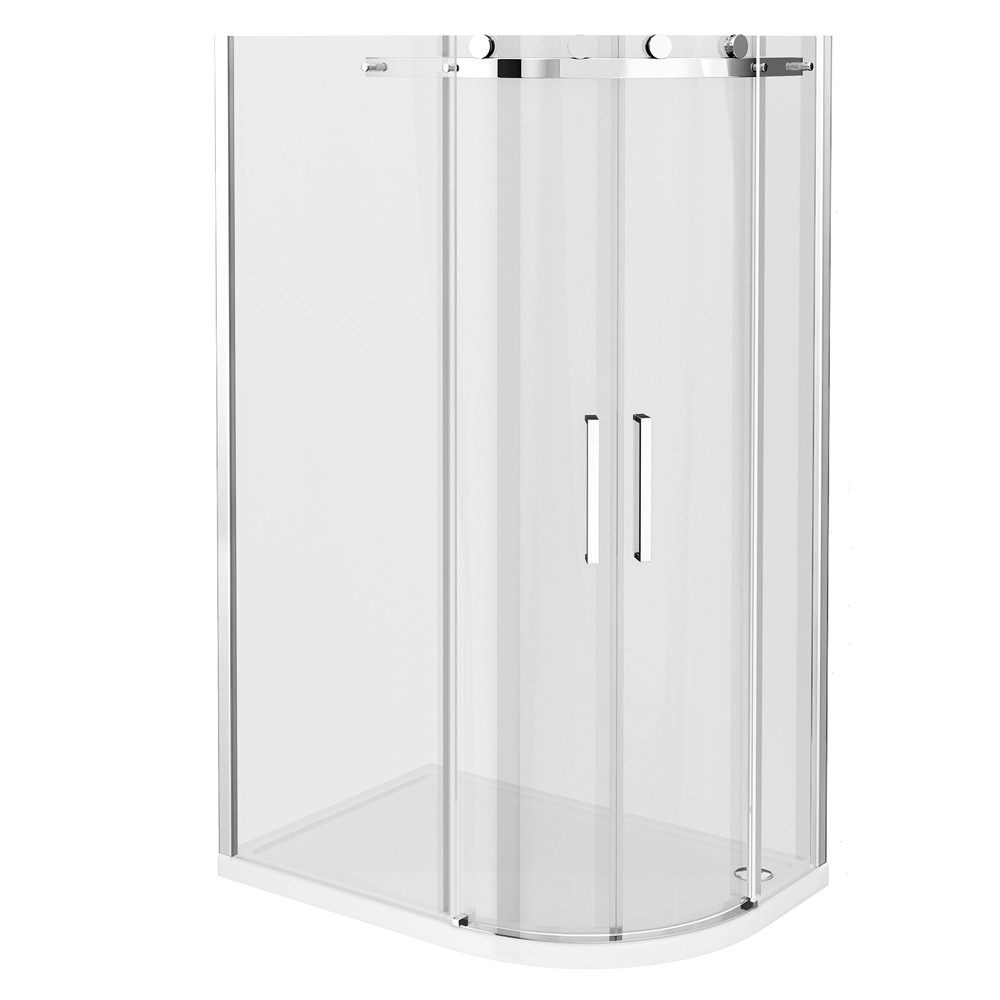 Nova Frameless 800 x 1200mm Offset Quadrant Enclosure - Left or Right Option profile large image view 3