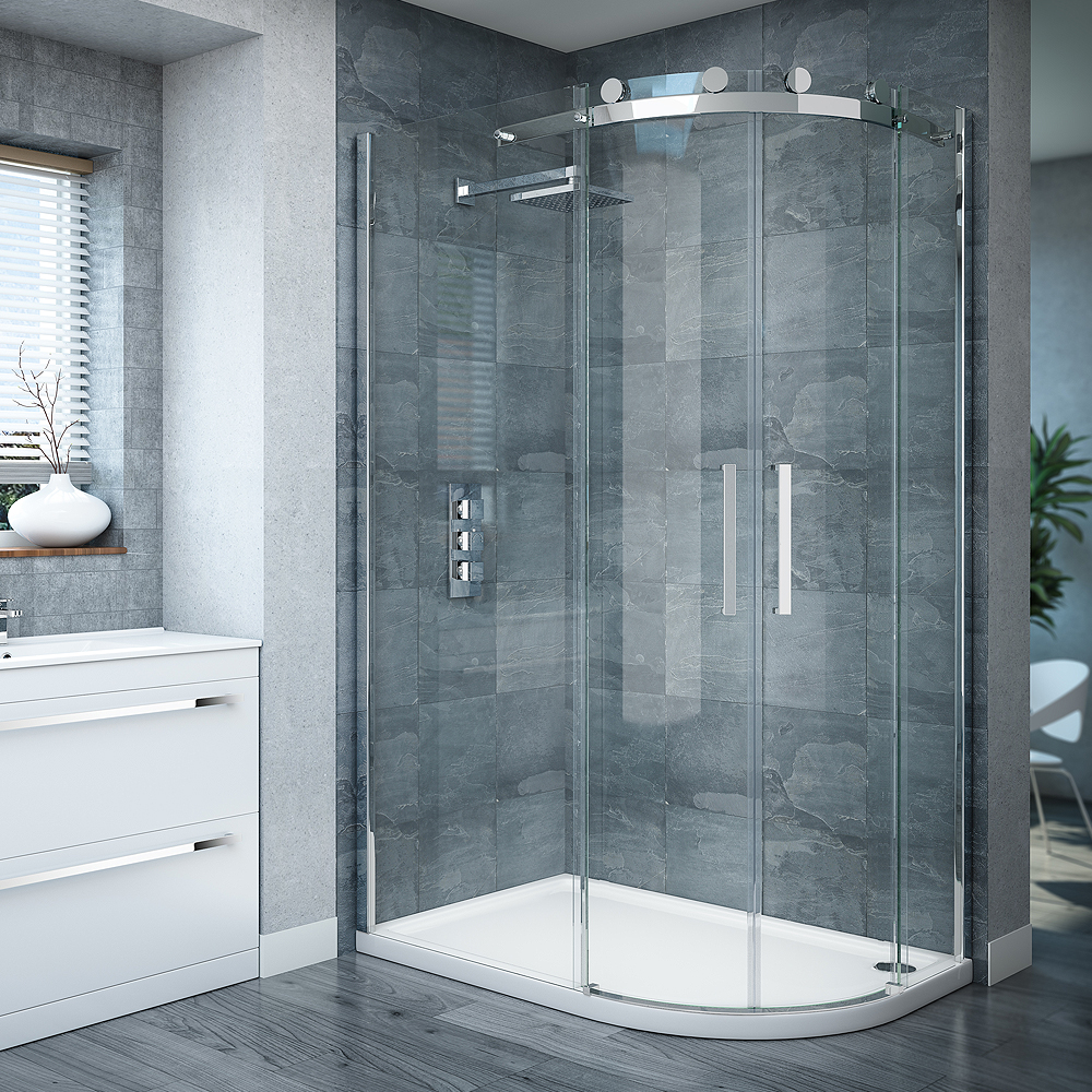 Best Quadrant Shower Enclosure Part - 21: Nova Frameless 800 X 1200mm Offset Quadrant Enclosure - Left Or Right  Option At Victorian Plumbing UK