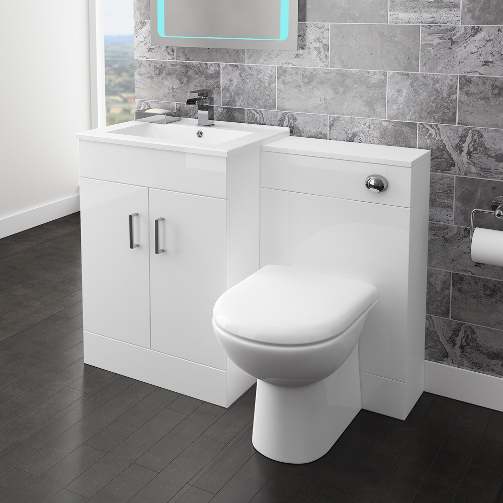 Nova 500mm BTW Toilet Unit Inc. Cistern + Soft Close Seat (Depth 200mm) Feature Large Image