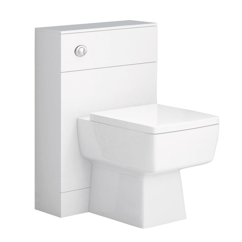 Nova 800mm Wall Hung Vanity Basin with WC Unit, Cistern & Pan Standard Large Image