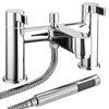 Nova Bath Shower Mixer Taps with Shower Kit - Chrome profile small image view 1