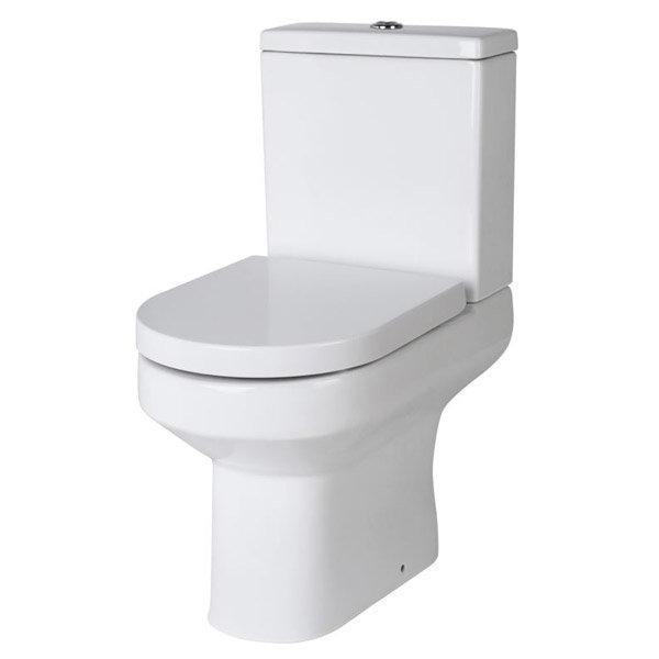 Nova Small Cloakroom Suite - Gloss White Profile Large Image