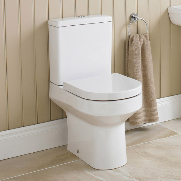 Nova Cloakroom Suite - Wall Hung Basin Unit + Close Coupled Toilet profile large image view 5