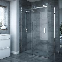 Nova Frameless 800 x 1200mm Sliding Door & Panel - D004 Medium Image
