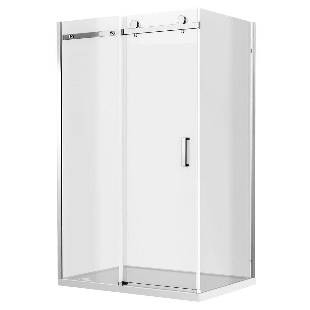 Nova Frameless 900 x 1200mm Sliding Door & Panel - D005 profile large image view 3