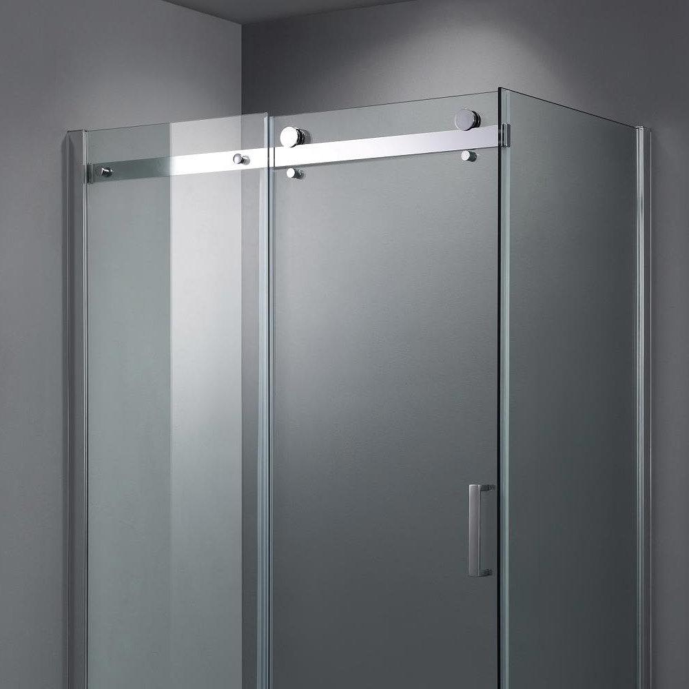 Nova Frameless 800 x 1200mm Sliding Door & Panel - D004 Profile Large Image