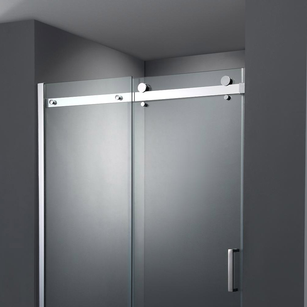 Nova Frameless Sliding Shower Door profile large image view 2