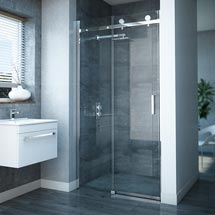Nova Frameless Sliding Shower Door Medium Image