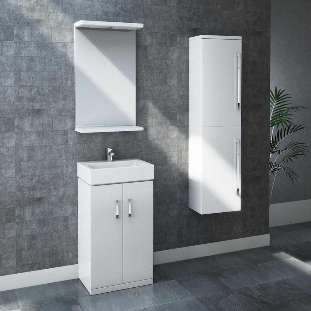 Nova Furniture Pack - White Gloss Large Image
