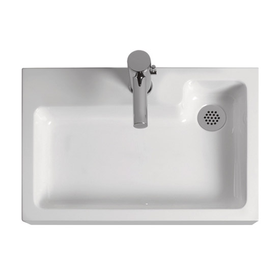 Nova Combined Two-In-One Wash Basin & Toilet (500mm wide x 340mm) profile large image view 2